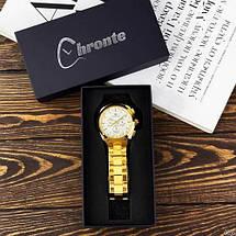 Оригинал! Мужские часы Chronte S899 Gold-White, фото 2