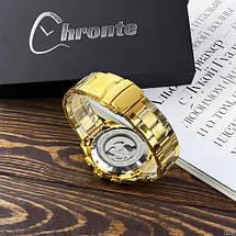 Оригинал! Мужские часы Chronte S899 Gold-White, фото 3