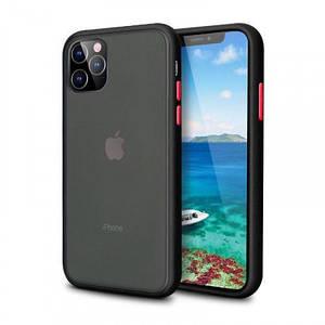 Чехол накладка xCase для iPhone 12/12 Pro Gingle series black red