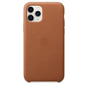Чохол накладка на iPhone 11 Pro Max good Leather Case saddle brown
