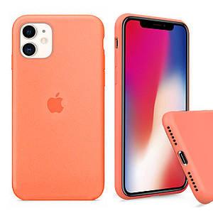 Чехол накладка xCase для iPhone 11 Silicone Case Full papaya