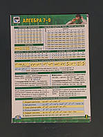 Формулы по алгебре 7-9 класс