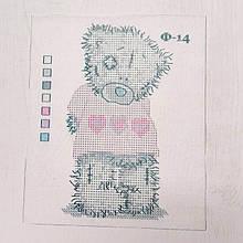 """Схема на водорозчинному флізелін для вишивки паєтками"""" Ведмедик Тедді"""","""