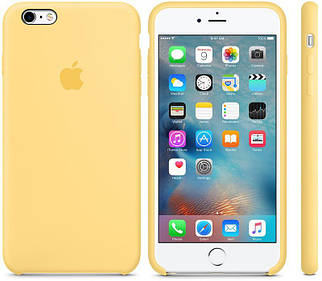 Чохол OEM for Apple iPhone 6 plus/6s plus Silicone Case Yellow (MM6H2)