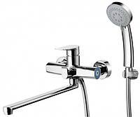 Смеситель для ванны ZEGOR (TROYA) FOB7-A134 , кран для воды с лейкой душем в ванную