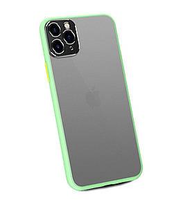 Чохол накладка xCase для iPhone 11 Pro Matt Case Camera Lens Green yellow