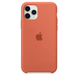 Чохол накладка xCase для iPhone 11 Pro Max Silicone Case papaya