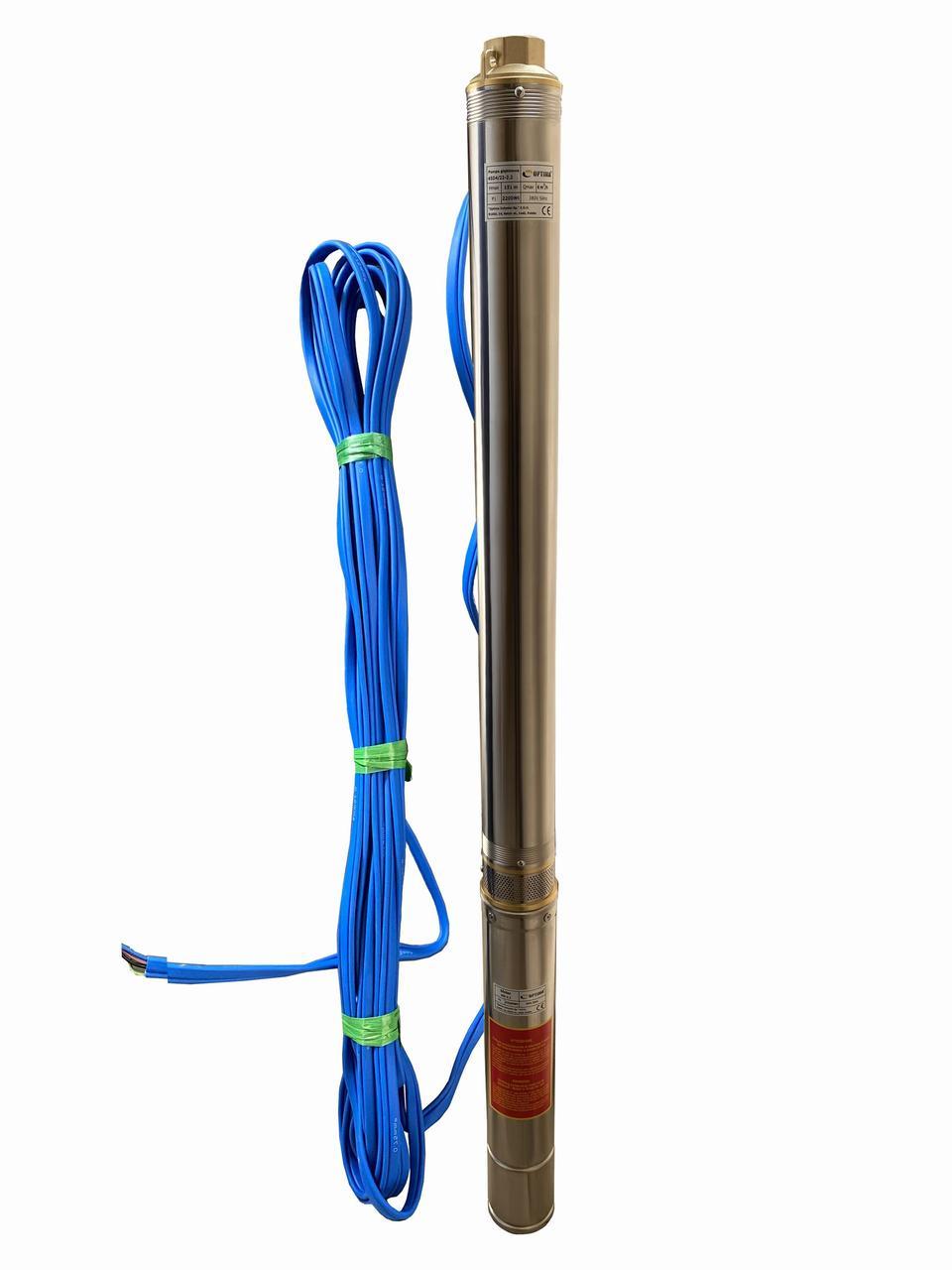 Насос свердловинний з підвищеною вуст-ма до піску OPTIMA 4SD 4/22 2,2 кВт 151м 3-х фазний