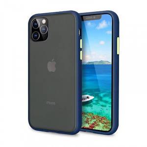 Чехол накладка xCase для iPhone 12/12 Pro Gingle series blue green