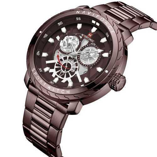 Оригинал! Мужские часы Naviforce NF9158 All Brown