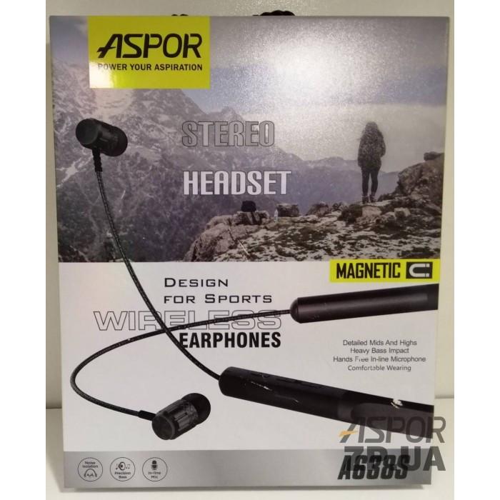 Bluetooth наушники Aspor A638S- красный