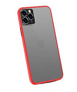 Чехол накладка xCase для iPhone 11 Pro Matt Case Camera Lens Red black