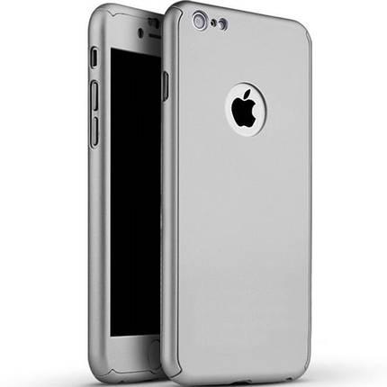 Чохол накладка xCase на iPhone 7 Plus/8 Plus Full Cover 360 Logo срібло, фото 2