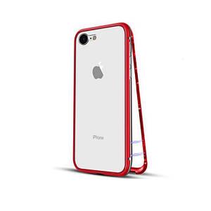Чохол накладка xCase для iPhone 6 Plus/6s Plus Magnetic Case прозорий червоний