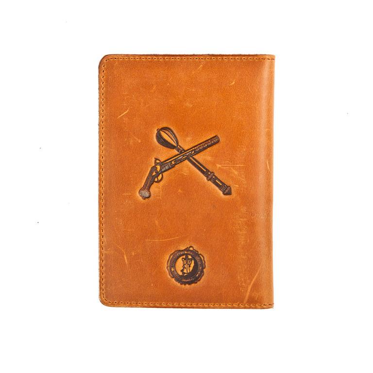 """Кожаная обложка на паспорт - """"Козак"""" (рыжий) - 220 грн. обратная сторона"""