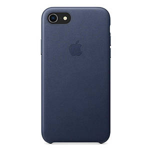 Чехол накладка на iPhone 7/8 Leather Case midnight blue