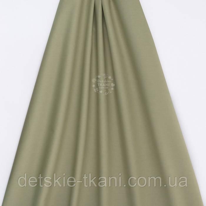 Поплін однотонний, колір темно-оливковий (№3304)