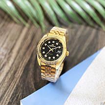 Оригінальні наручні годинники Megalith 0038M Gold-Black Diamonds   Оригінал Мегаліт, фото 2