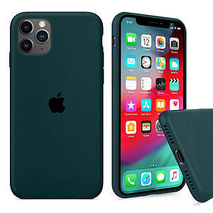 Чохол накладка xCase для iPhone 11 Pro Max Silicone Case Full forest green