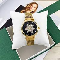 Жіночий наручний годинник Forsining 1171 Gold-Black Гарантія: 12 місяців/ Жіночі металеві годинник
