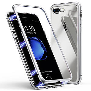 Чехол накладка xCase для iPhone 7 Plus/8 Plus Magnetic Case прозрачный белый