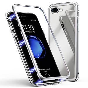 Чохол накладка xCase для iPhone 7Plus/8Plus Magnetic Case білий прозорий