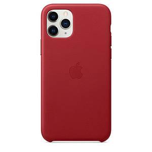 Чохол накладка на iPhone 11 Pro Max good Leather Case (product) red