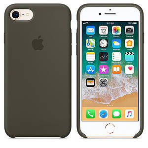 Чохол OEM for Apple iPhone 7/8 Silicone Case Dark Olive (MR3N2)