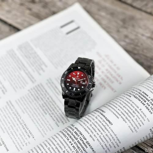 Наручний годинник Rolex Submariner 6478 Black-Black-Red