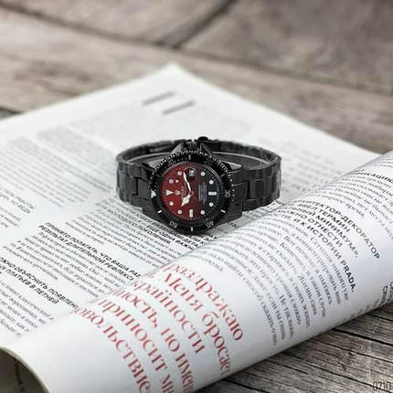 Наручний годинник Rolex Submariner 6478 Black-Black-Red, фото 2
