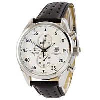 Часы наручные мужские кварцевые Tag Heuer Carrera 1887 SpaceX Chronograph Black-Silver-White
