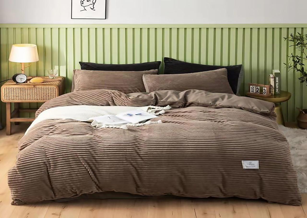 Плюшевый комплект постельного белья  (евро размер)