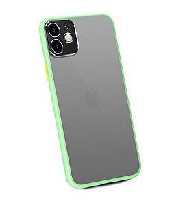 Чехол накладка xCase для iPhone 11 Matt Case Camera Lens Green yellow