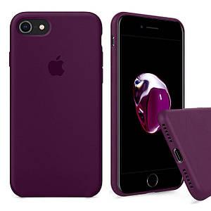 Чехол накладка xCase для iPhone 7/8 Silicone Case Full marsala