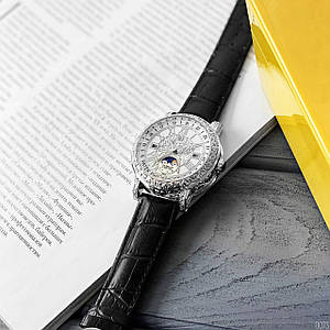 Жіночі наручні годинники з шкіряним ремінцем Patek Philippe Grand Complications 6002 Sky Moon