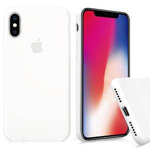 Чехол накладка xCase для iPhone X/XS Silicone Case Full white