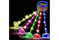 Нейроскакалка на ногу 64см, світло, мікс кольорів