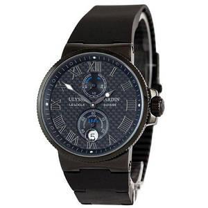 Чоловічі наручні чорні годинник Ulysse Nardin Maxi Marine Chronometer All Black