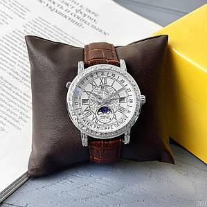 Наручний чоловічий годинник зі шкіряним ремінцем Patek Philippe Grand Complications 6002 Sky Moon