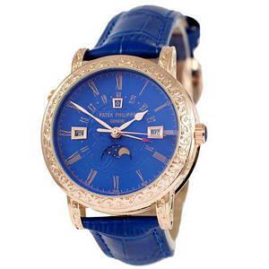 Наручний годинник ААА класу Patek Philippe Grand Complications 5160 Sky Blue Moon-Gold-Blue