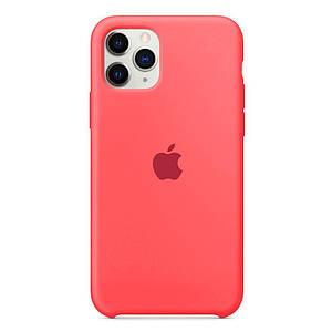 Чохол накладка xCase для iPhone 11 Pro Silicone Case яскраво рожевий