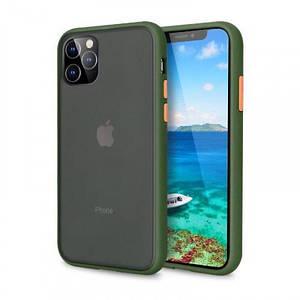 Чехол накладка xCase для iPhone 12 Pro Max Gingle series green orange