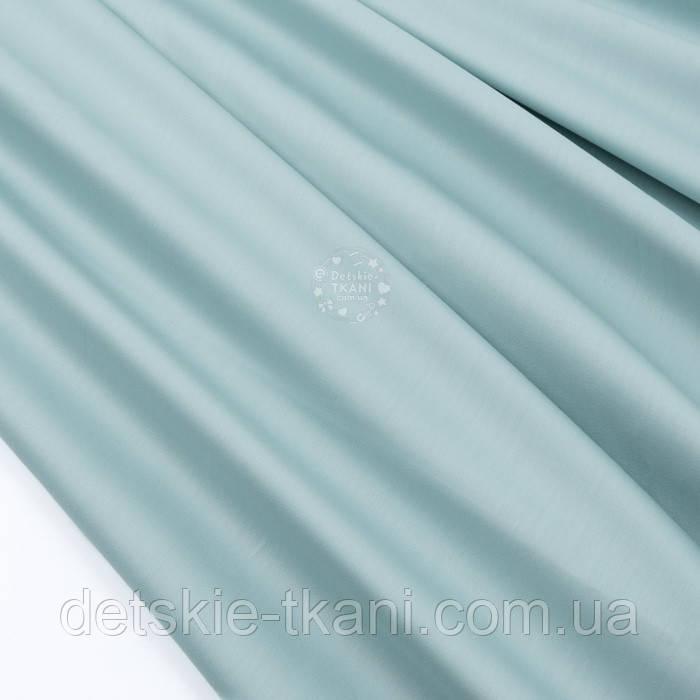 Сатин преміум, колір пильно-м'ятний, ширина 240 см (№3305)