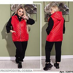 Удобная и невероятно комфортная жилетка с капюшон большого размера 50-52, 54-56, 58-60