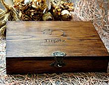 Дубовая винтажная коробка для подарков (элит)
