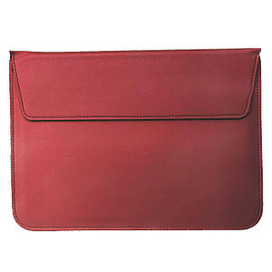 Папка конверт PU sleeve bag для MacBook 15'' wine red