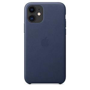 Чехол накладка на iPhone 11 good Leather Case midnight blue