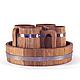 Пивной дубовый набор Greus на 4 персоны для бани и сауны, фото 2