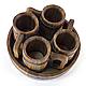 Пивной дубовый набор Greus на 4 персоны для бани и сауны, фото 3