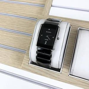 Наручные женские часы Rado Integral All Diamonds Silver-Black Часы с блестками женские черные